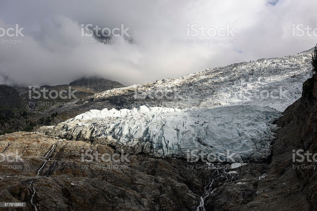 Mont Blanc Massif, Bossons Glacier stock photo