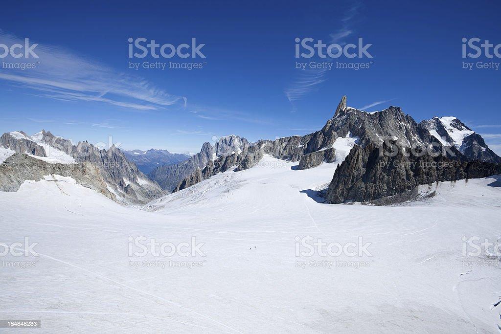 Mont Blanc Massif glacier stock photo