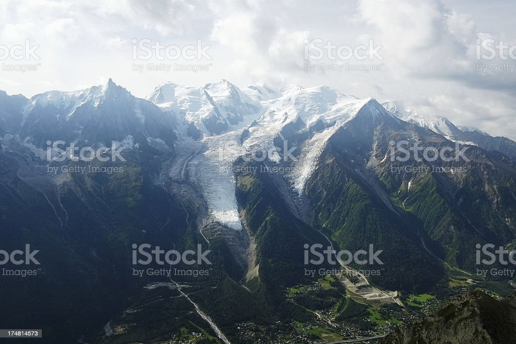 Mont Blanc Massif in the French Alps royalty-free stock photo