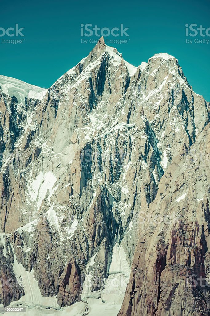 Mont Blanc massif in the French Alps,Chamonix Mont Blanc royalty-free stock photo