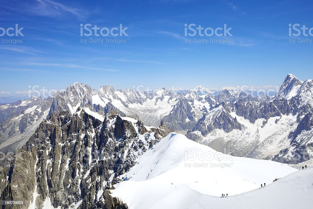 Mont Blanc Massif royalty-free stock photo