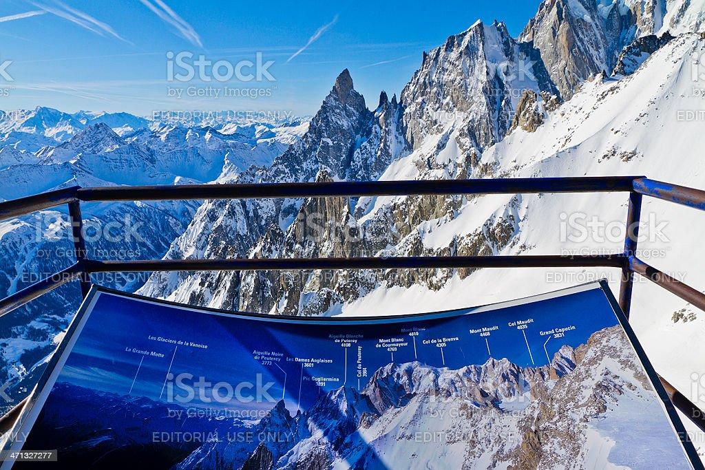 Mont Blanc Massif stock photo