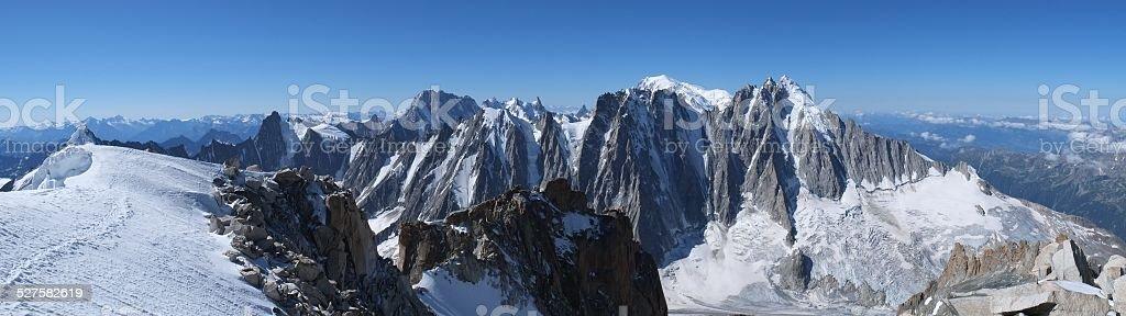 Mont Blanc Massiv (Chamonix) stock photo