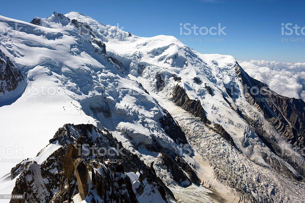 Mont Blanc, Mont Blanc Massif stock photo