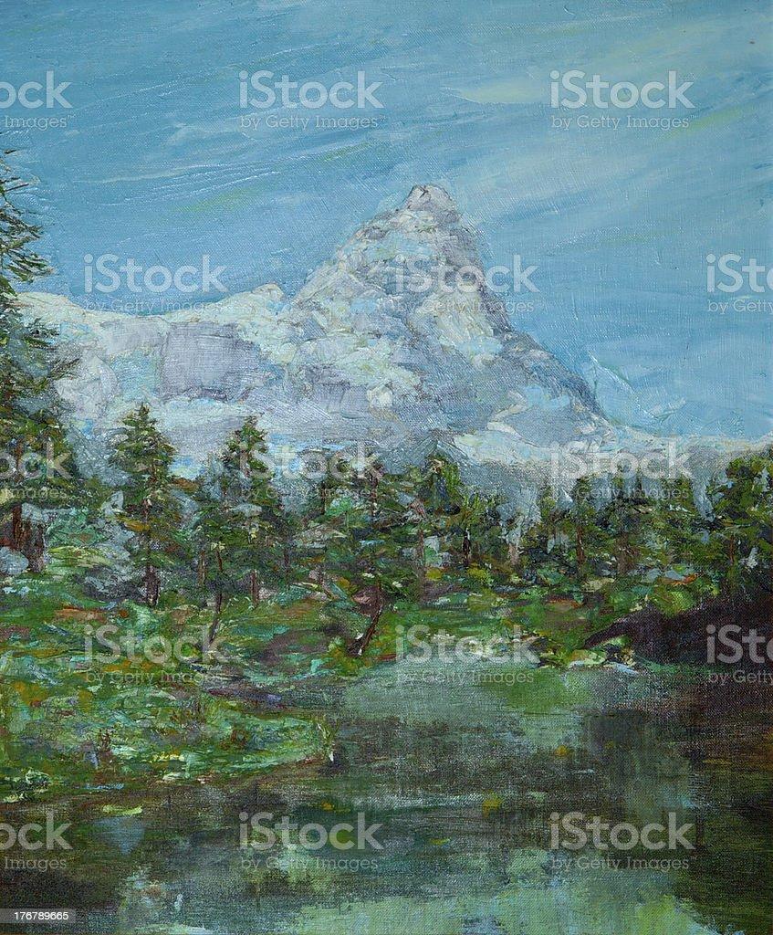 Mont Blanc or Monte Bianco royalty-free stock photo