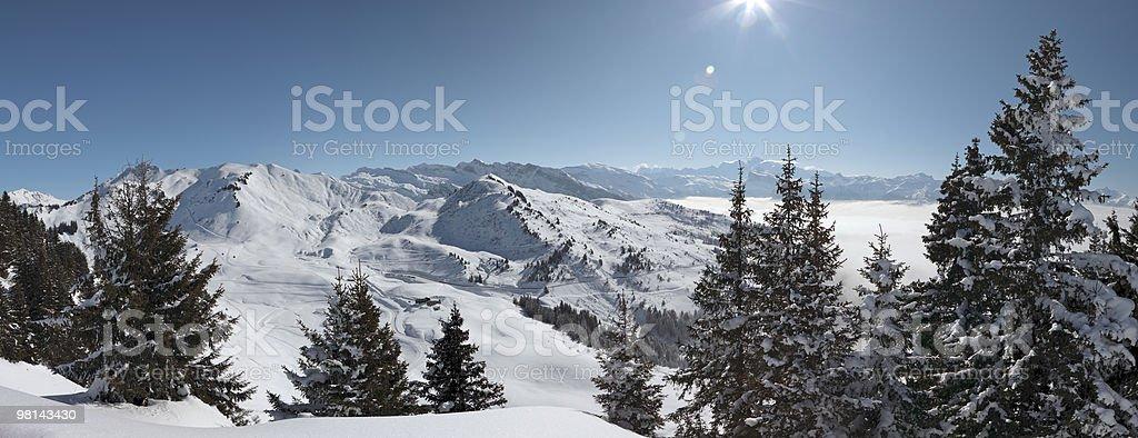 Mont Blanc Panorama stock photo