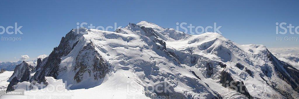 Mont Blanc range Panoramic stock photo