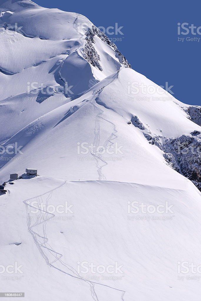 Mont Blanc ridge royalty-free stock photo