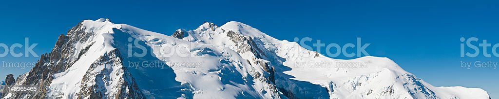 Mont Blanc summit domes Haute-Savoie France royalty-free stock photo