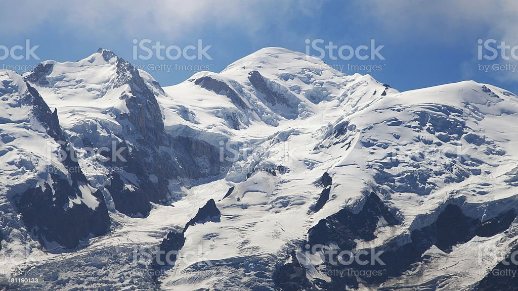 Mont Blanc summits stock photo