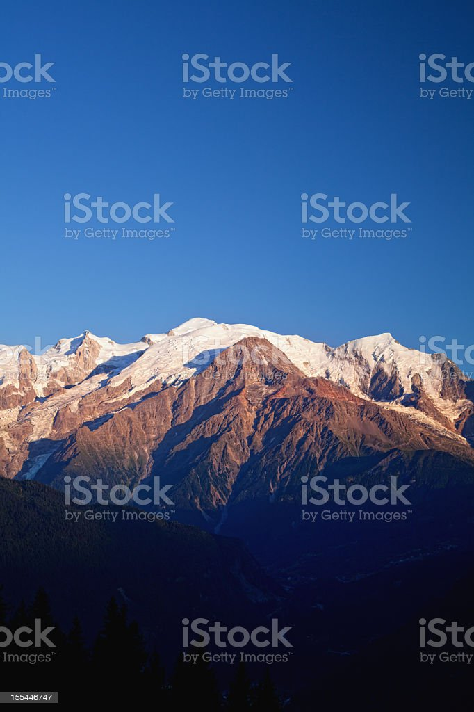 Mont Blanc sunset stock photo