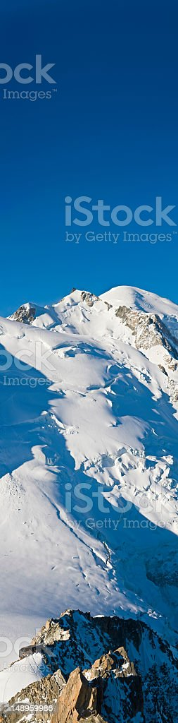Mont Blanc Traversée route vertical royalty-free stock photo