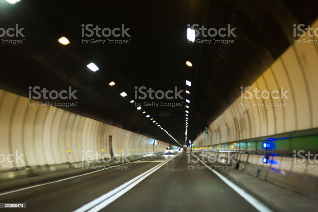 Mont Blanc tunnel stock photo