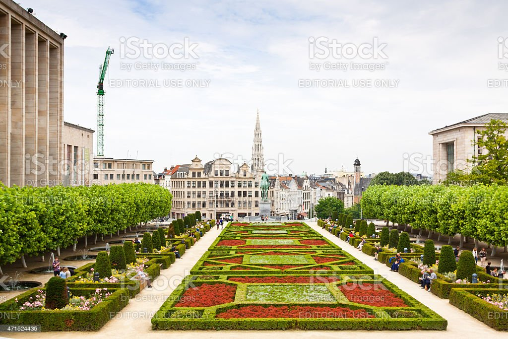 Mont des Arts, Brussels. royalty-free stock photo