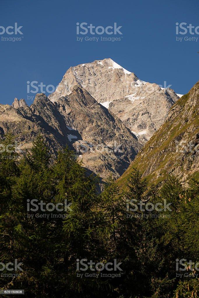 Mont Dolent summer stock photo