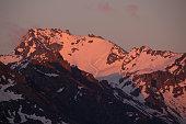 Mont Fort sunset