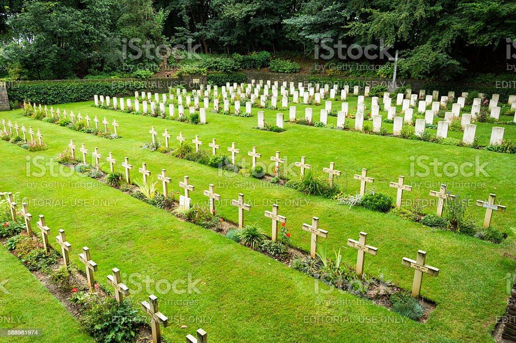 Mont Noir military cemetery France stock photo