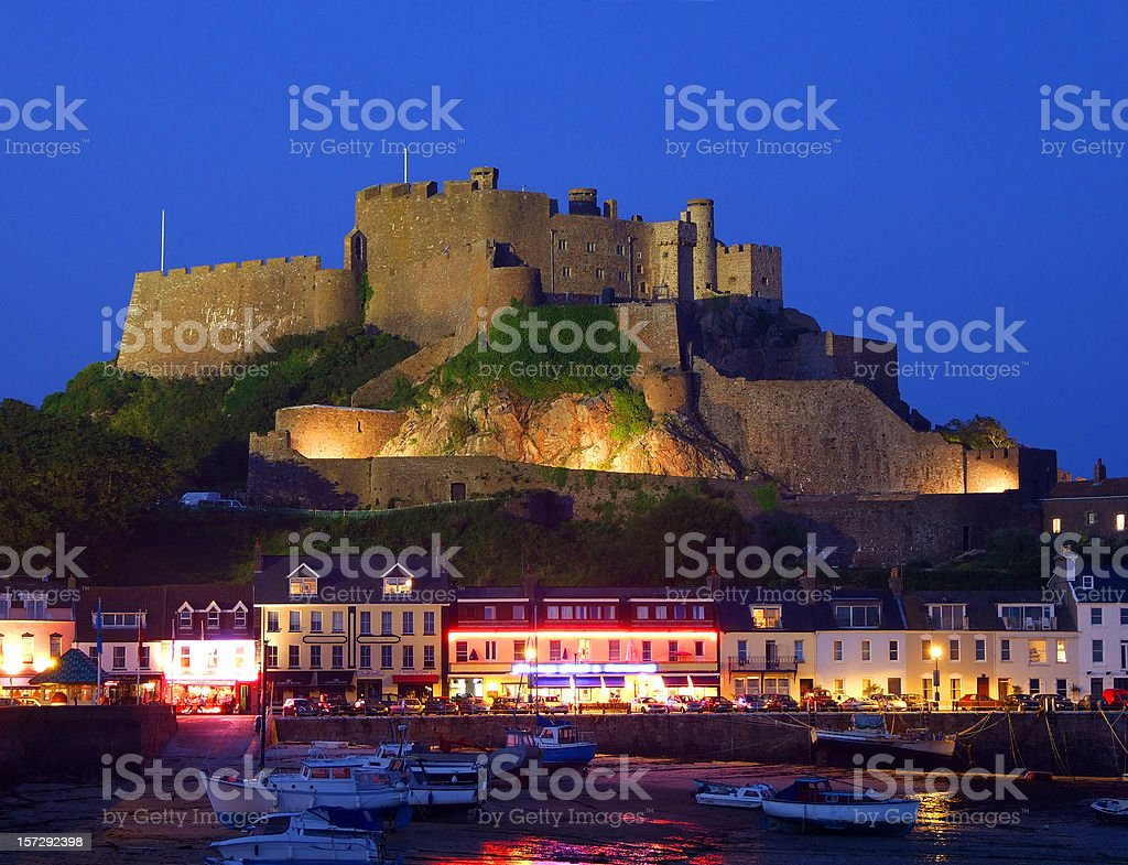 Mont Orgueil Castle, Jersey, Channel Islands royalty-free stock photo