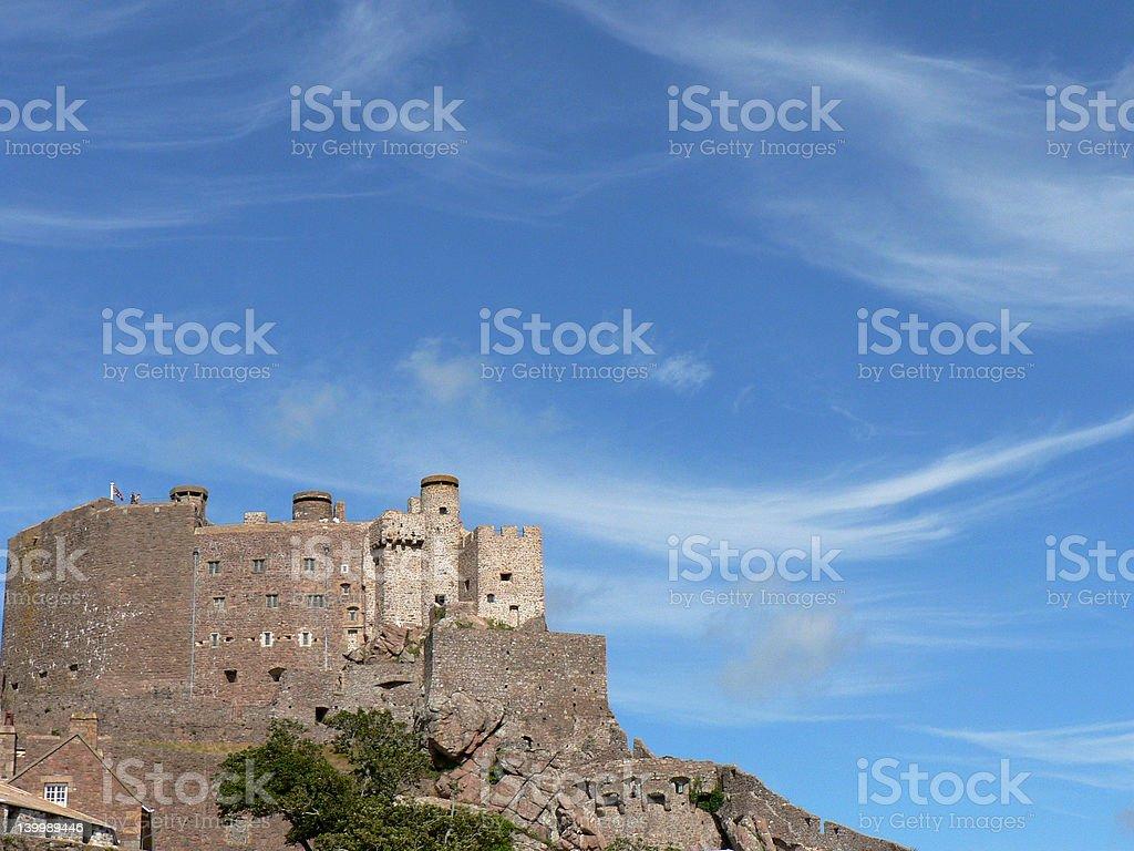 Mont Orgueil Castle stock photo