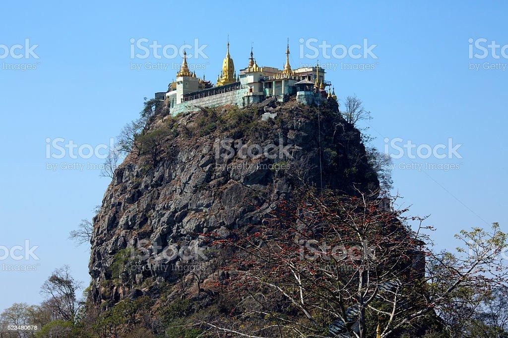 Mont Popa - Myanmar (Burma) stock photo
