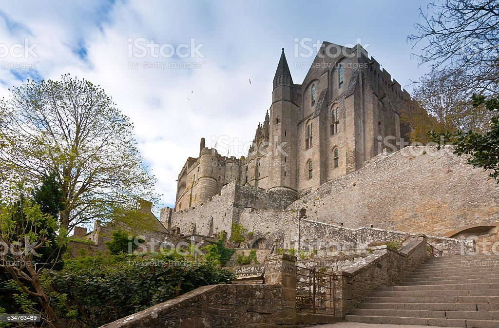 Mont Saint Michel abbey in Normandy, France stock photo