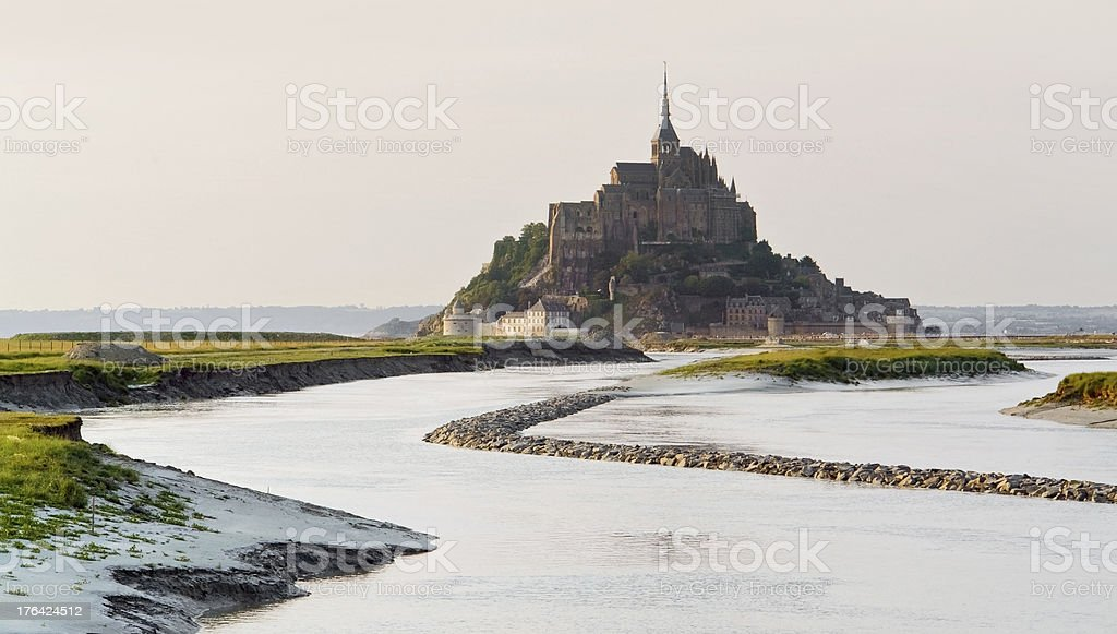 Mont Saint Michel Abbey royalty-free stock photo