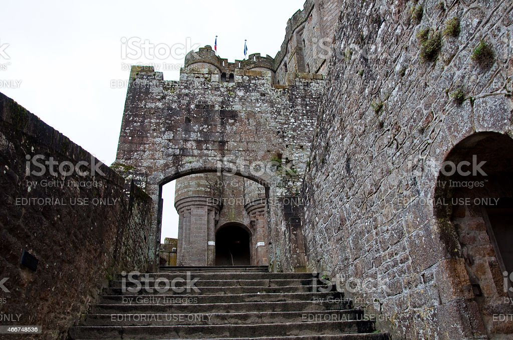 Mont Saint Michel Abby Entrance. Normandy, France stock photo