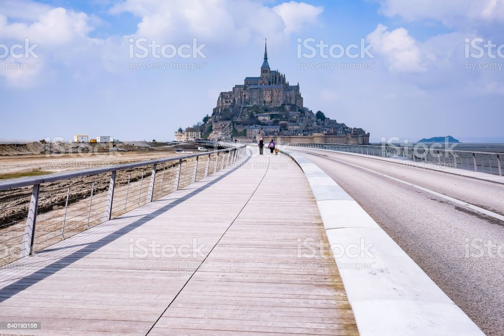 Mont saint michel in France stock photo