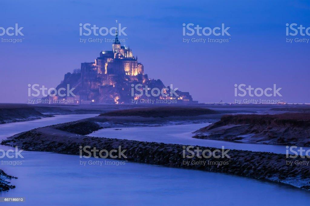 Mont saint michel in France stock photo