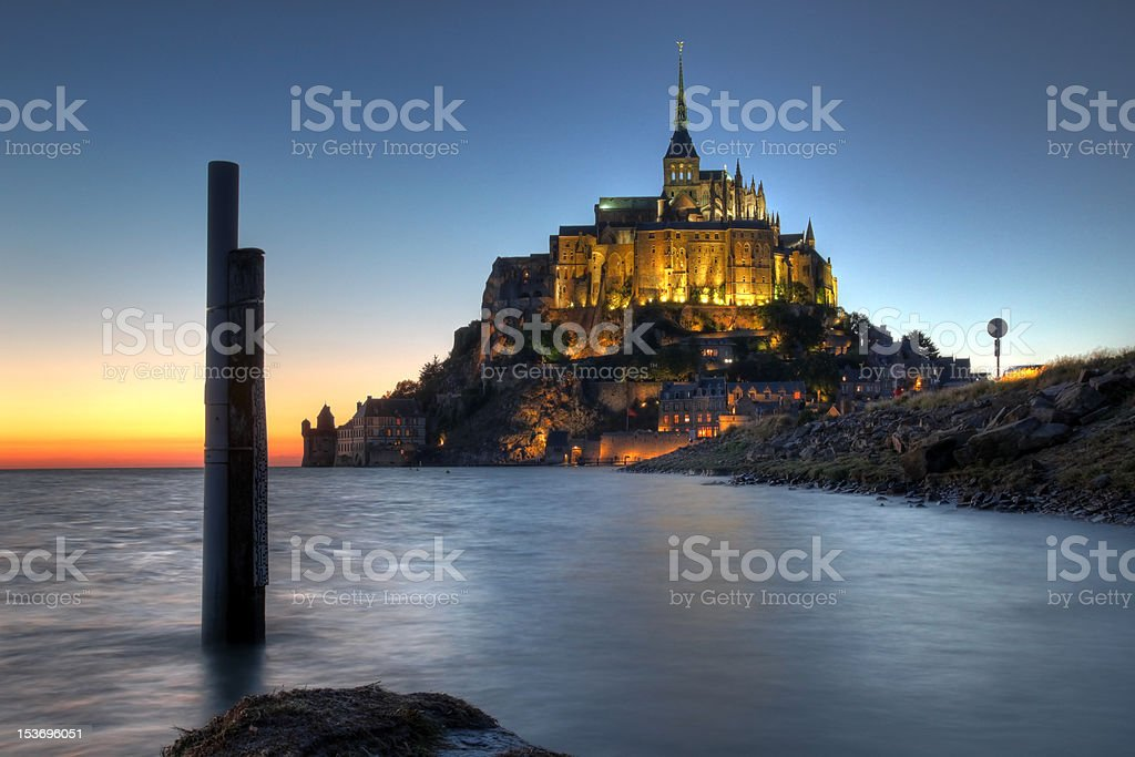 Mont Saint Michel, Normandy, France royalty-free stock photo