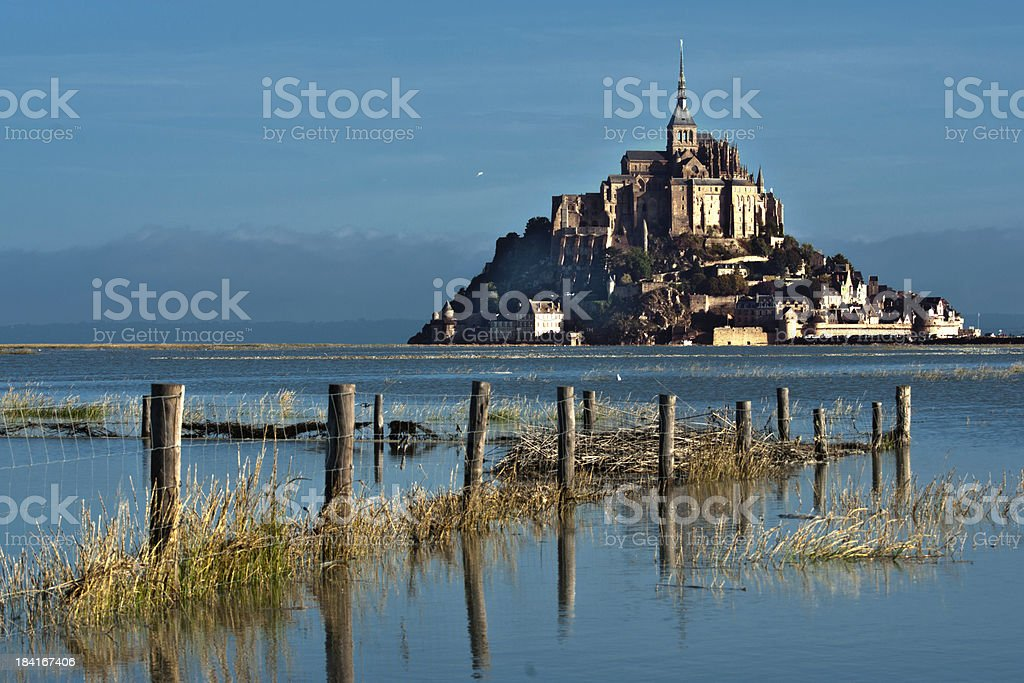 Mont Saint-Michel at high tide. royalty-free stock photo