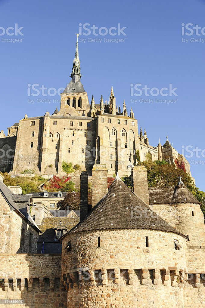 Mont Saint-Michel from below royalty-free stock photo