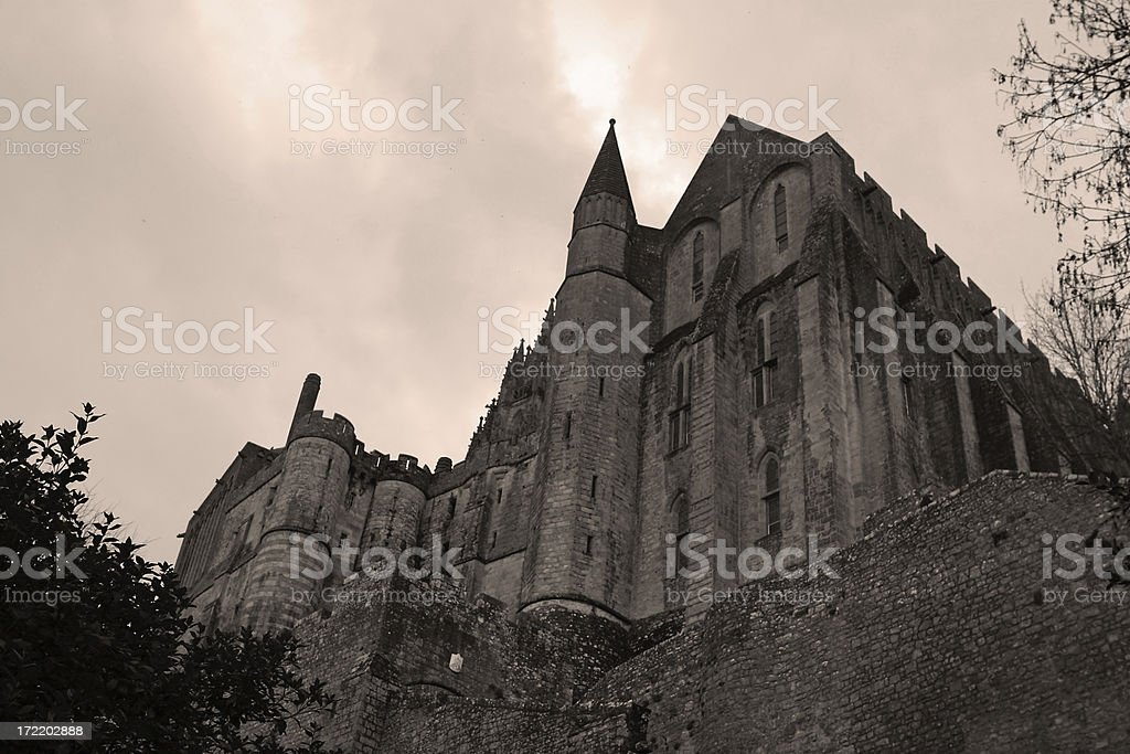 Mont St. Michel Abbey - Normandy, France royalty-free stock photo