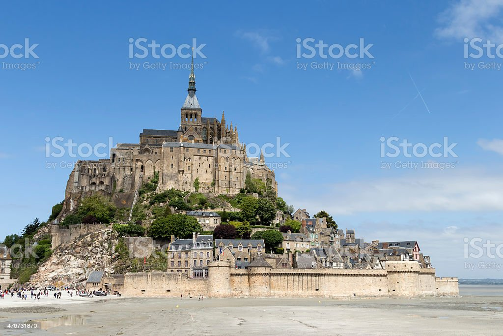 Mont St Michel from distance royalty-free stock photo