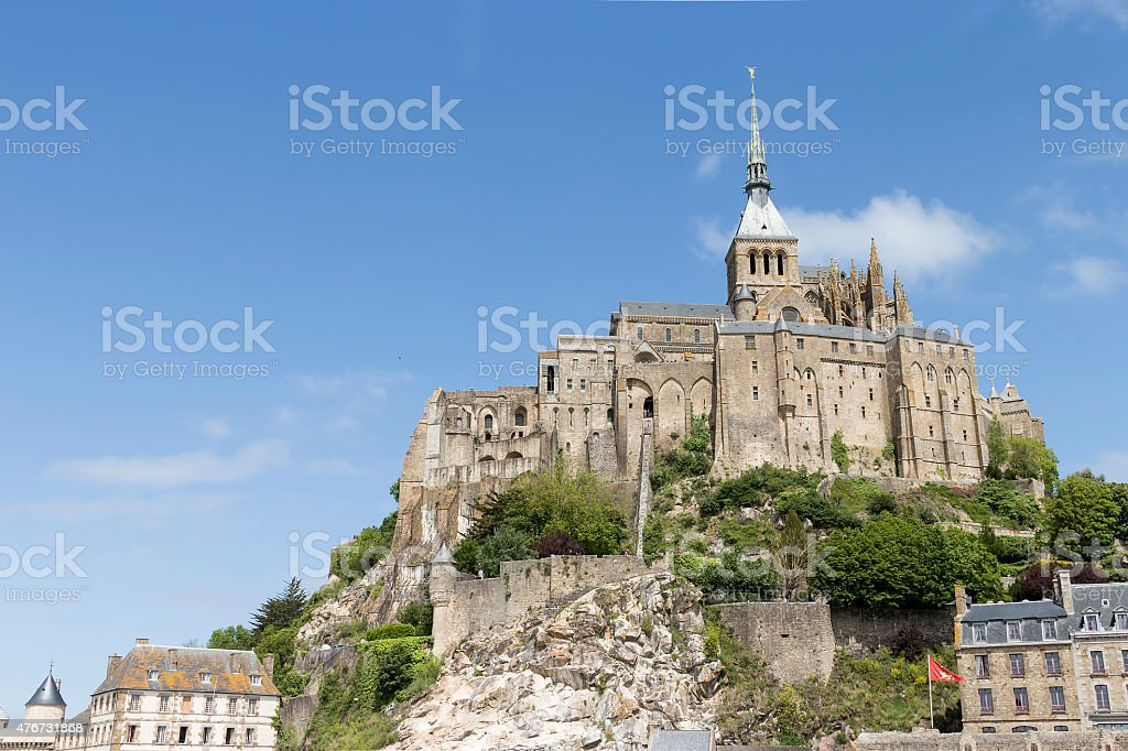 Mont St Michel from the bottom royalty-free stock photo