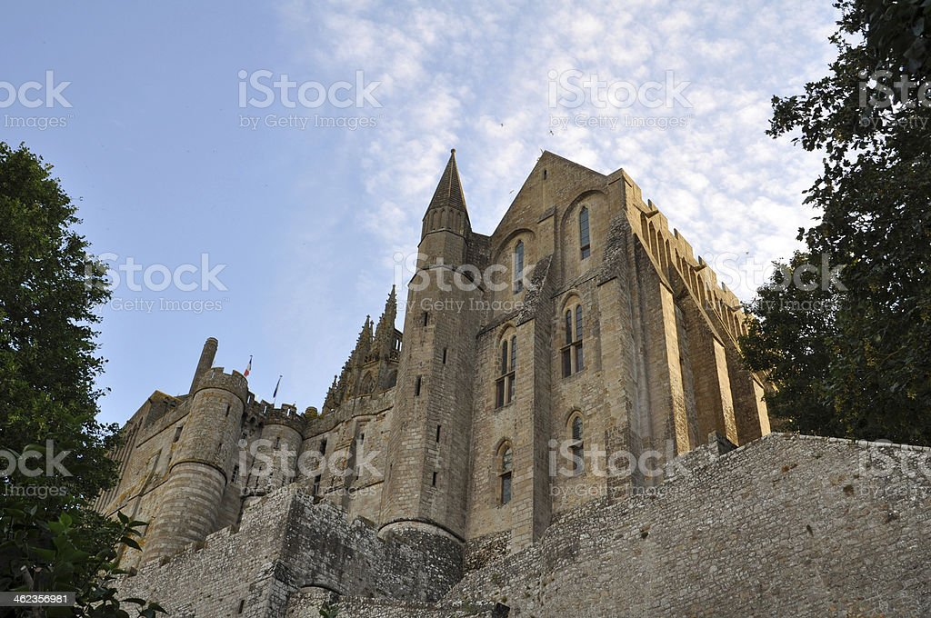 Mont St Michel in France stock photo