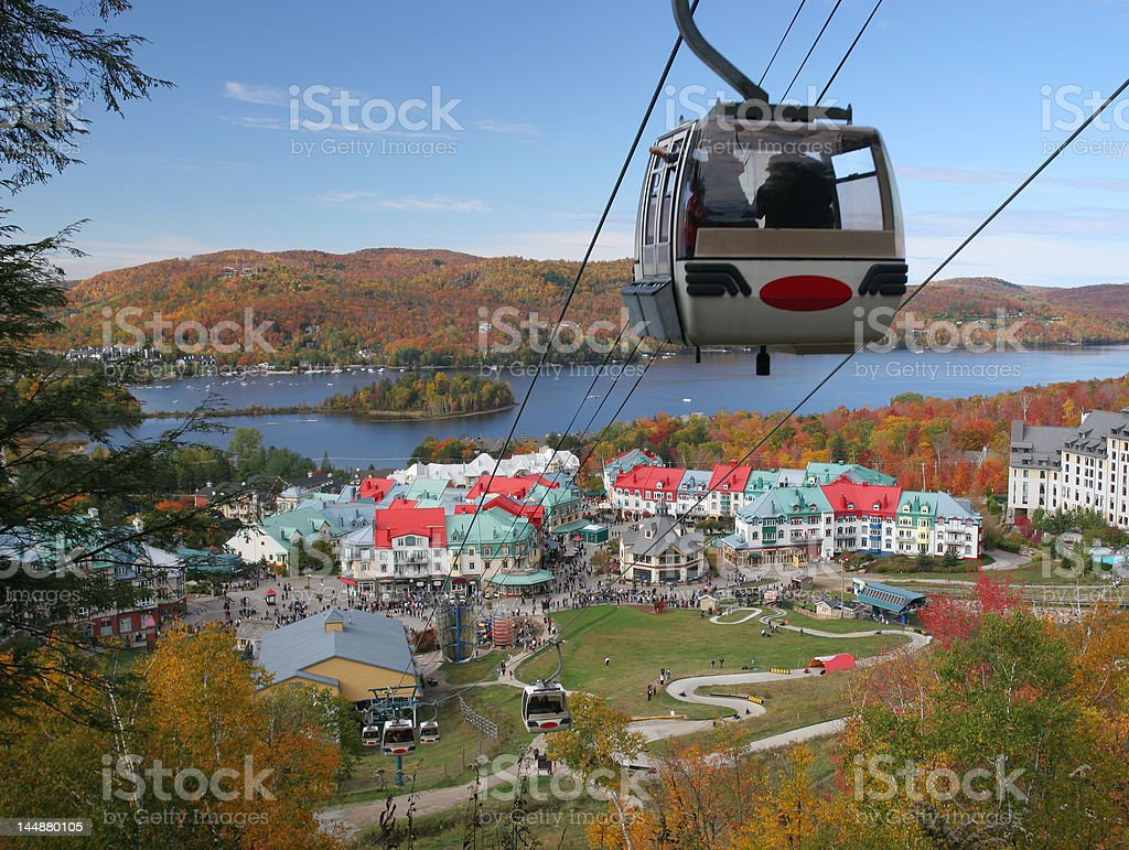 Mont Tremblant gondola royalty-free stock photo