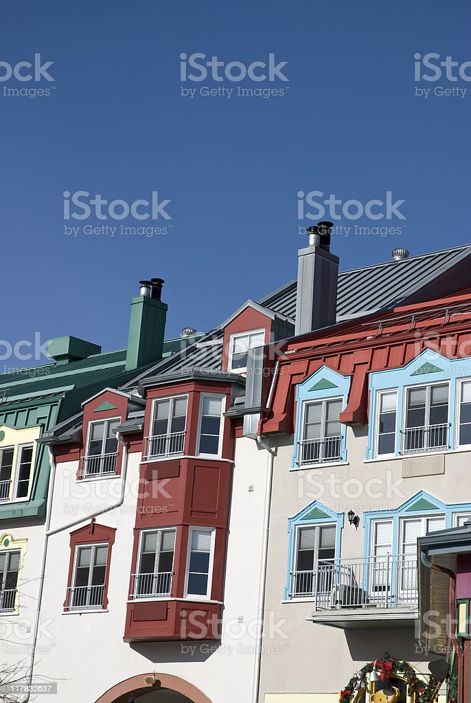 Mont Tremblant - hotels royalty-free stock photo