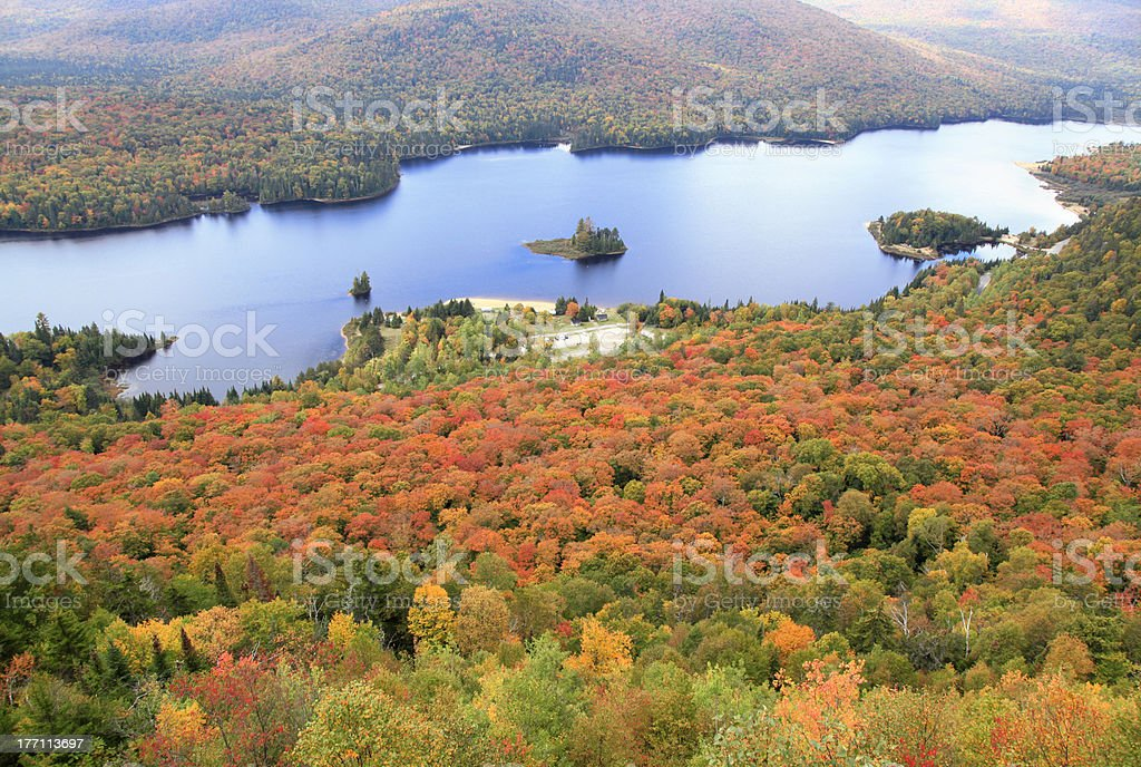 Mont Tremblant National Park in autumn (XXXL) stock photo