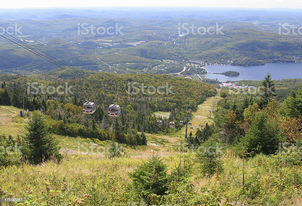 Mont Tremblant resort view from the top of the mountain royalty-free stock photo
