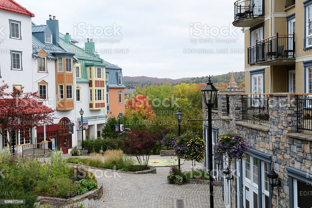 Mont Tremblant resort village in Canada stock photo