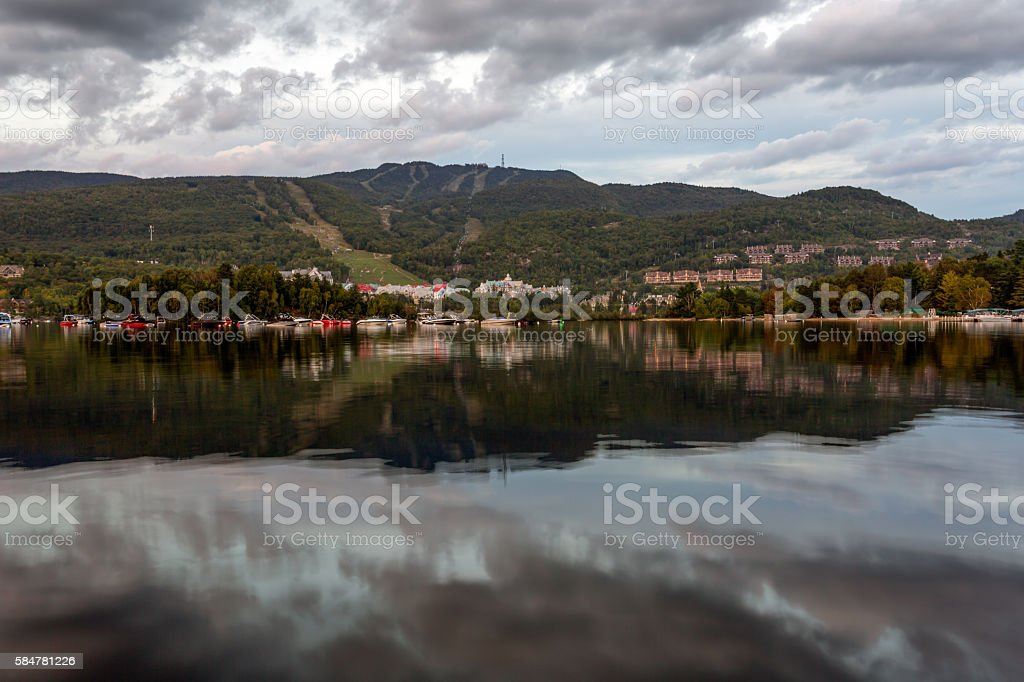 Mont Tremblant Village in Summer, Quebec, Canada stock photo