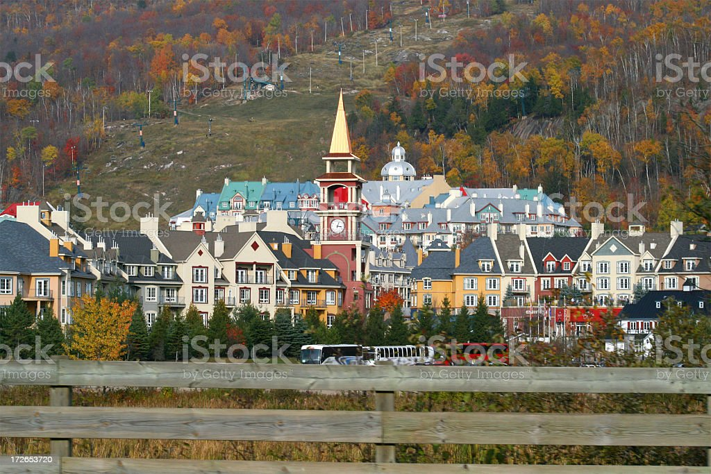 mont tremblant village royalty-free stock photo
