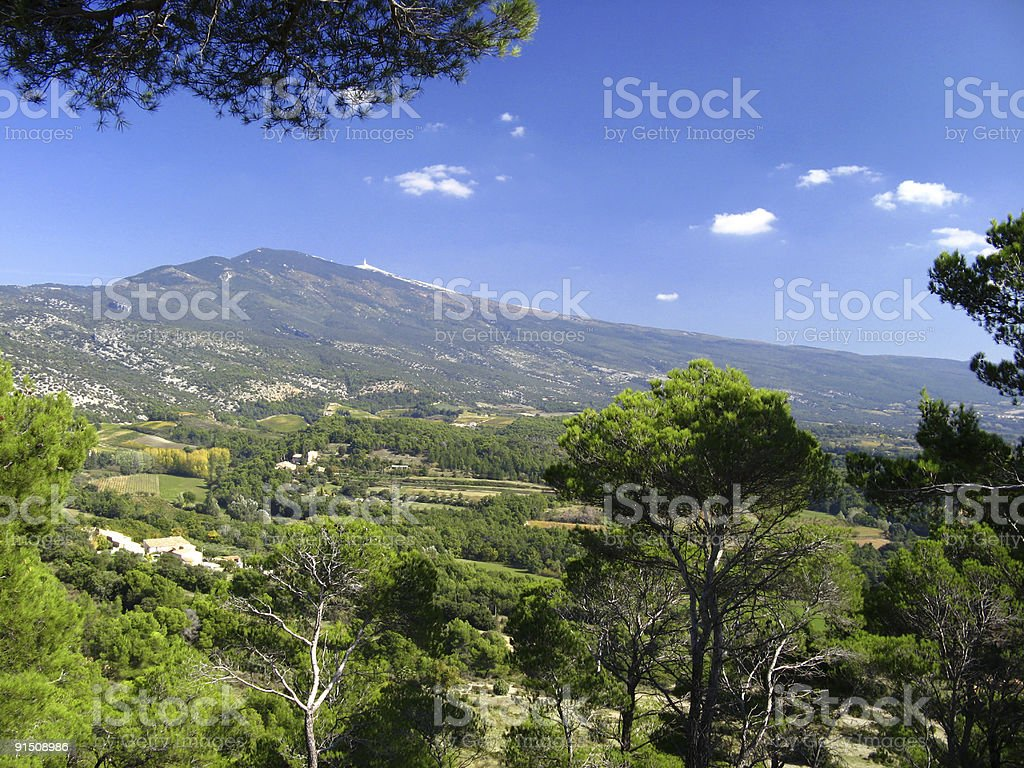Mont Ventoux from south stock photo
