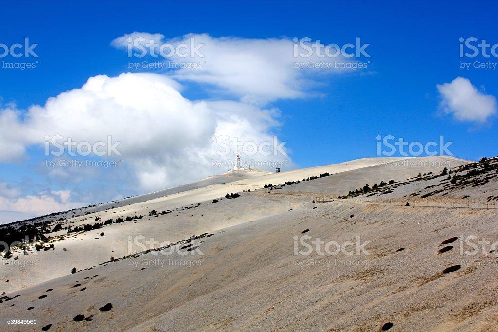 Mont Ventoux - peak stock photo