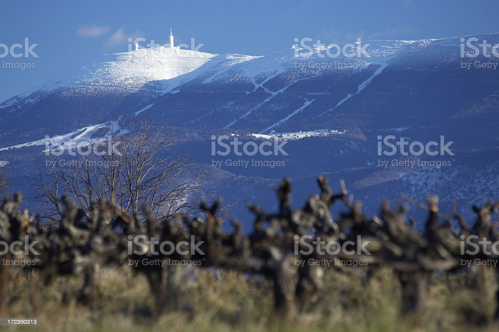 Mont Ventoux, Provence in winter stock photo