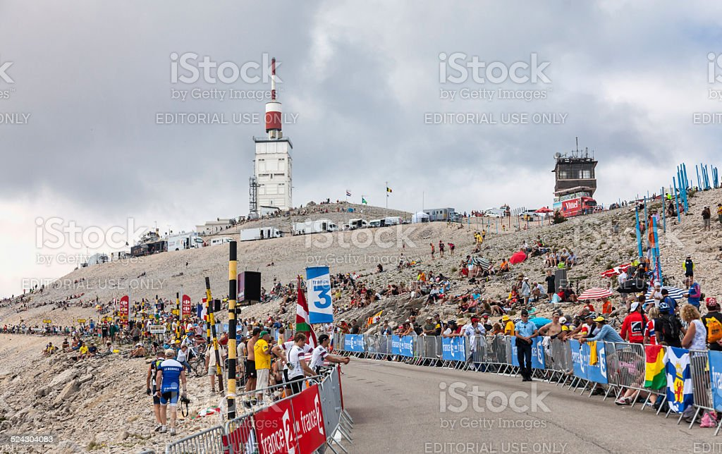 Mont Ventoux- Tour de France 2013 stock photo