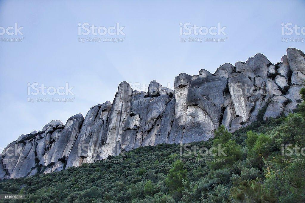 Montañas de Montserrat royalty-free stock photo