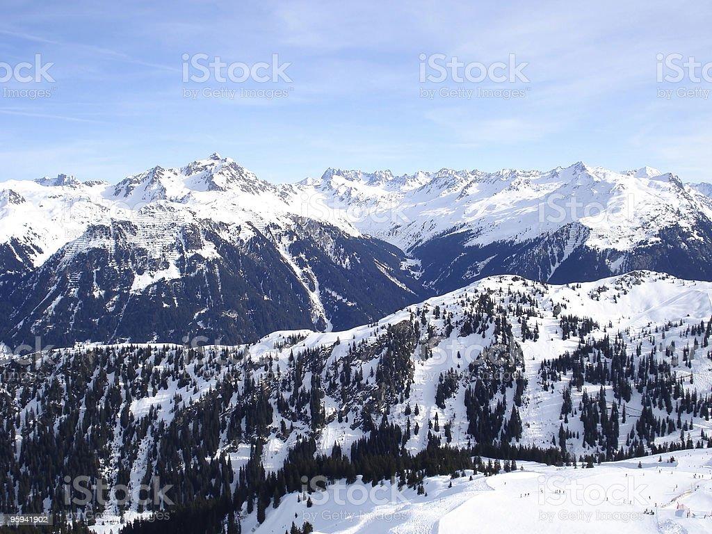 Montafon aerial view royalty-free stock photo