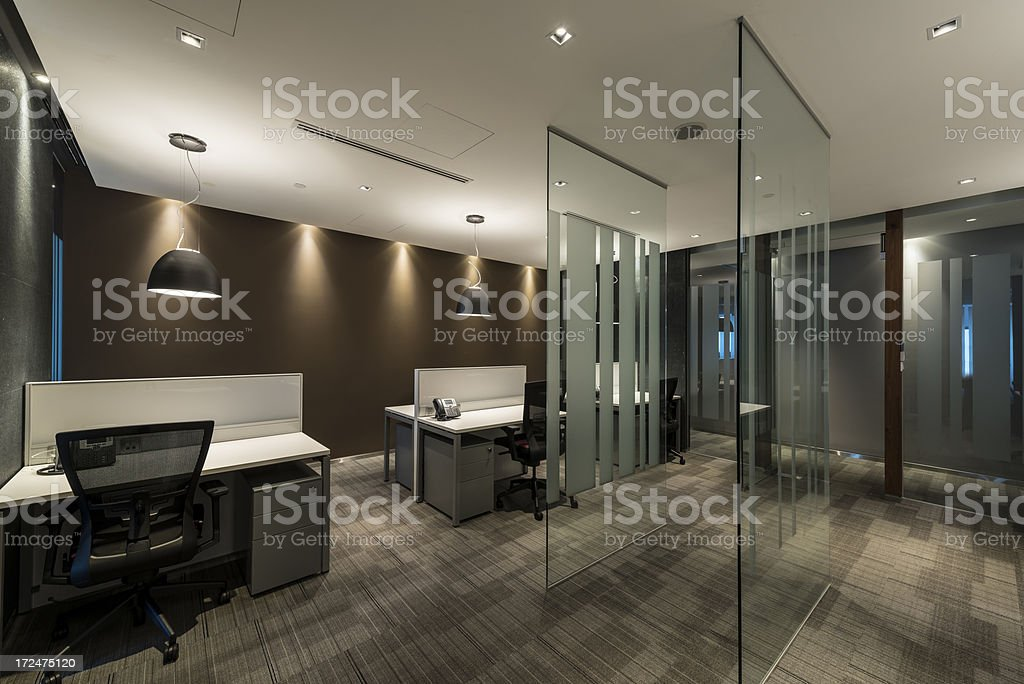 Montage of a stylishly designed modern office interior royalty-free stock photo
